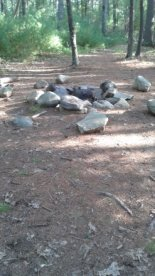 informal campsite at stetson meadows