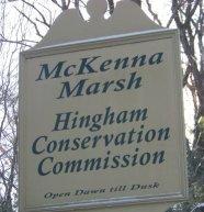 Mckenna Marsh trail sign