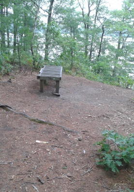 Bench overlook above Silver Lake at it's sanctuary.