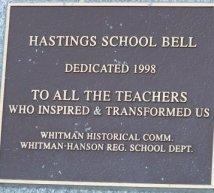 Teachers dedication at whitman park