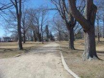 strolling path at Whitman Park