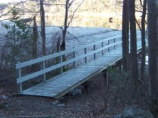 trail leading to the pier at little conservation area