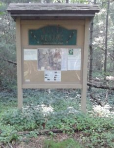 The kiosk at misty meadows conservation area.