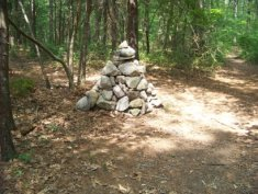 cairn on the around cleveland pond trail