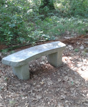 stone bench of stetson meadows