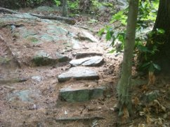 stone step trail in Wheelwright Park
