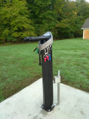 bicycle repair station at wompatuck state park