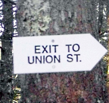 exit sign at two mile farm