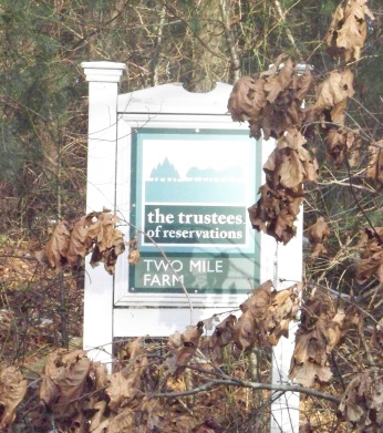Two Mile Farm Reservation sign