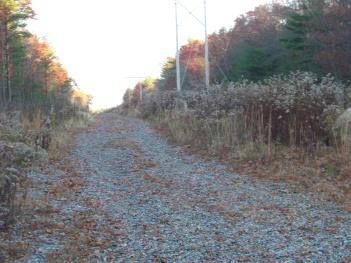 whitman hanson hiking trail along utility service line