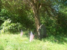 grave site on around cleveland pond trail