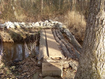 early bridge building in rockland town forest