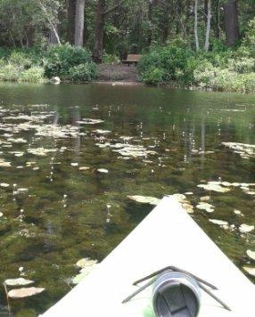 kayaking to a hiking trail destination