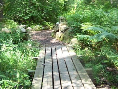 bridge on Ingeno hiking trail in Rockland