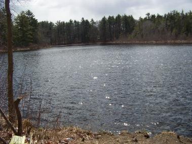 factory pond in Hanover looking toward Hanson