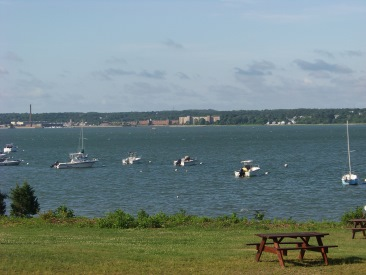 boats moored at Howland Park