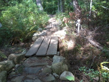 summer hiking trails in rockland