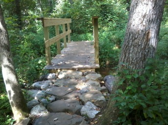 permanent bridge completed in rockland town forest