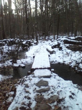 bridge on jims trail in rockland