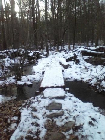 bridge on jims trail in rockland