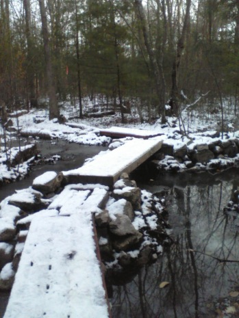 finished first bridge on jims trail