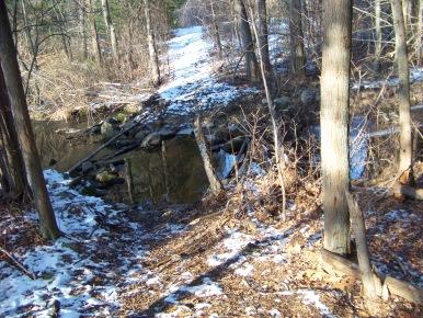 water crossing needing trail work in ames nowell