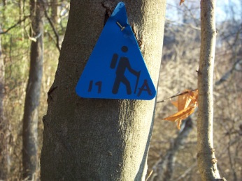 trail marker at ames nowell