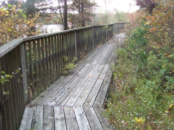 western side boardwalk at ames nowell state park