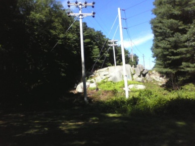 large rock front in bradford torrey bird sanctuary
