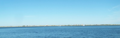 view of long beach from the breakwater