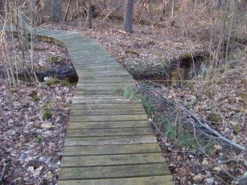 trail over stream at canoe club in pembroke