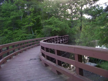 walking along the Cliff Prentiss Bridge