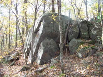 rock outcropping at cranberry pond