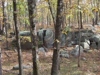 rock outcropping at cranberry pond conservation