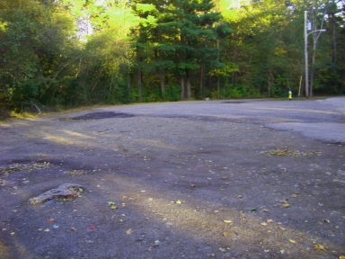 Plenty of parking at the Dolan St entrance to Wompatuck State Park.