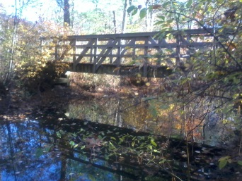 bridge on fireworks trail in hanover
