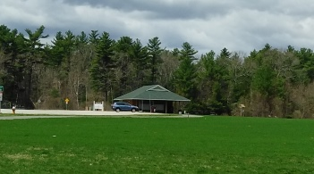 The pavilion at Forge Pond Park