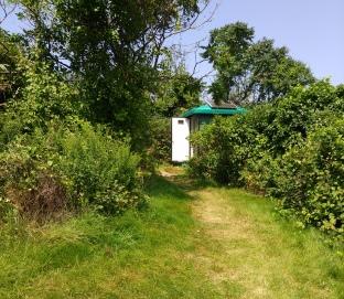 Solar powered out house on Grape Island