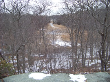 view from the ledge in great brewster woods