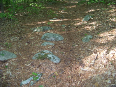 rocky section of hiking trail at hatch lots conservation
