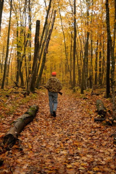 hunter on a hiking trail