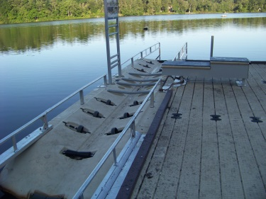 handicapped accessible kayak launch system