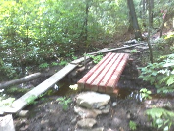 start of bridge work on jims trail