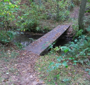Bridge over Phillips Brook near the remains of the Howland's Mill.