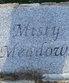 granite sign at misty meadows