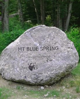 Mount Blue Springs rock.