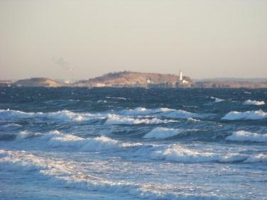 windy day at Nantasket Beach