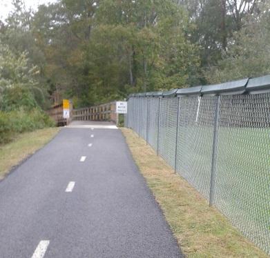 pathway behind osborne field
