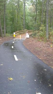 boardwalk on pathway in norwell