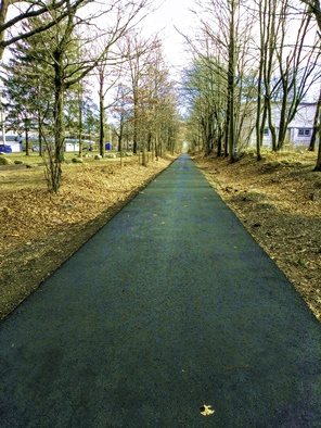 paved section of rockland rail trail